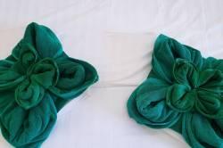 ručníky v pokoji