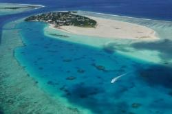 Pláž maledivského ostrova