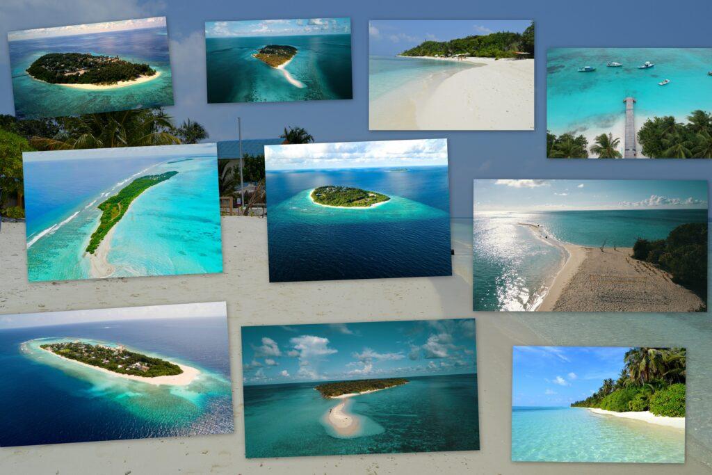 lokální ostrovy na Maledivách